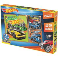 Kırkpapuç Hot Wheels Go On Green Çocuk Puzzle
