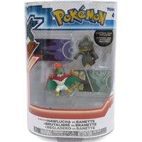 Takara Tomy Pokemon Figür 2'Li Set: Hawlucha Ve Banette