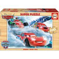 Educa 100 Parça Ahşap Puzzle (Cars)