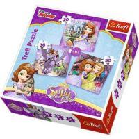 20+36+50 Parça Prenses Sofia Çocuk Puzzle (Trefl 34814)