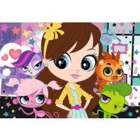 100 Parça Littles Pet Shop Minişler Çocuk Puzzle (Trefl 16287)