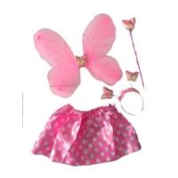 Partistok Kelebek Kostüm Seti Pembe