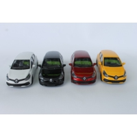 Welly Renault Clio Rs - 4'lü Set