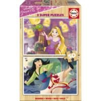 Educa Puzzle Disney Princesses 2 X 50 Parça Ahşap Puzzle