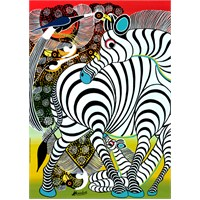 Heye Puzzle Zebra, Tinga (1000 Parça)