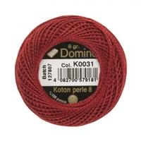 Coats Domino 8Gr Kırmızı No: 8 Nakış İpliği - K0031