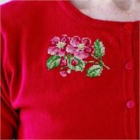 Permin 10X10 Çiçek Desenli Mini Etamin Kiti - 794761