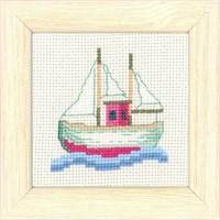 Permin 9X9 Balıkçı Desenli Mini Etamin Kiti - 146186