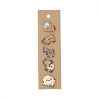 Buttonmad Karışık Renk Hayvan Seramik Düğme - L253