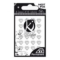 Ki-Sign Kalp Şekilli Ütüyle Yapışan Metal Taş - C-Strass-01Heart