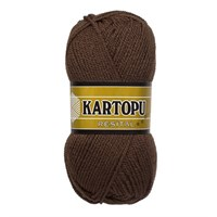 Kartopu Resital Koyu Kahverengi El Örgü İpi - K8002