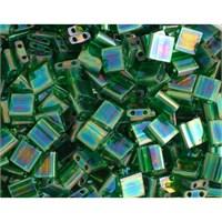 Miyuki Tila Bead 5X5 Mm 50 Gr. Şeffaf Açık Zümrüt Yeşili Boncuk - 690Tl00-0179