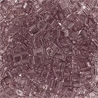 Miyuki Tila Half Cut 5X2.3 Mm 50 Gr. Şeffaf Ametist Rengi Boncuk - 690Htl0-0142