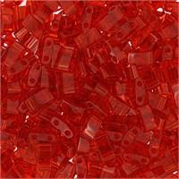 Miyuki Tila Half Cut 5X2.3 Mm 50 Gr. Şeffaf Kırmızı Boncuk - 690Htl0-0140
