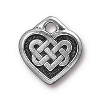 Tierra Cast 1 Adet 14.X13 Mm Gümüş Rengi Kalp Takı Aksesuarı - 94-2393-12