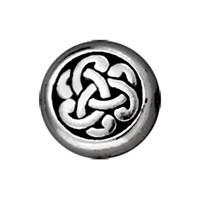 Tierra Cast Metal 1 Adet 9.75X9.5 Mm Gümüş Rengi Yuvarlak Boncuk - 94-5543-12