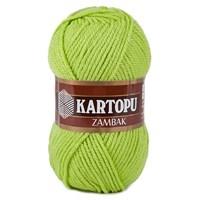 Kartopu Zambak Fıstık Yeşili El Örgü İpi - K369