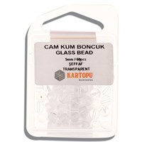 Kartopu 5 Mm Şeffaf Cam Kum Boncuk - 12.108