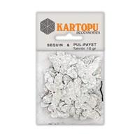 Kartopu Gümüş Janjan Kelebek Figürlü Figürel Pul Payet - Pp5
