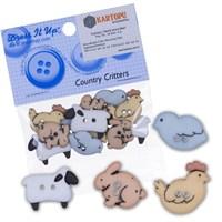 Kartopu Hayvanlar Şeklinde Dekoratif Düğme - 4678