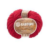 Kartopu Merino Kırmızı El Örgü İpi - K122