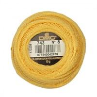 Dmc Koton Perle Yumak 10 Gr Sarı No:8 - 743