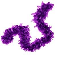 Pandoli 6 Cm Mor Renk Tüylü Kalın Otriş Boa 2 Metre