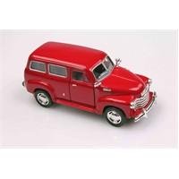 Kırmızı 1950 Chevrolet Suburban 1/36 Çek Bırak Die-Cast Model Araç