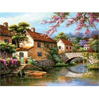 Art Puzzle 2000 Parça Country Village Canal