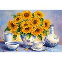 Castorland 2000 Ayçiçekleri Puzzle Golden Blue Trisha Hardwick