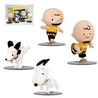 Snoopy Peanuts: Charlie & Snoopy 4 Figures Set 4'Lü Figür Seti