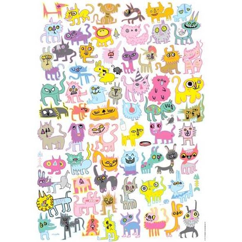 Heye Doodlecats - Burgerman (1000 Parça)