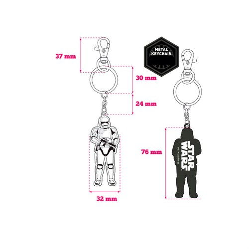 Sd Toys Star Wars Stormtrooper Guard Ep7 Metal Keychain Anahtarlık