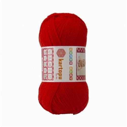 Kartopu Super Baby Kırmızı Bebek Yünü - K160