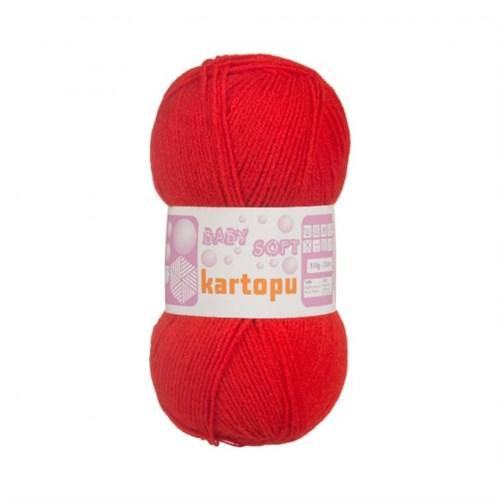 Kartopu Baby Soft Kırmızı Bebek Yünü - K243