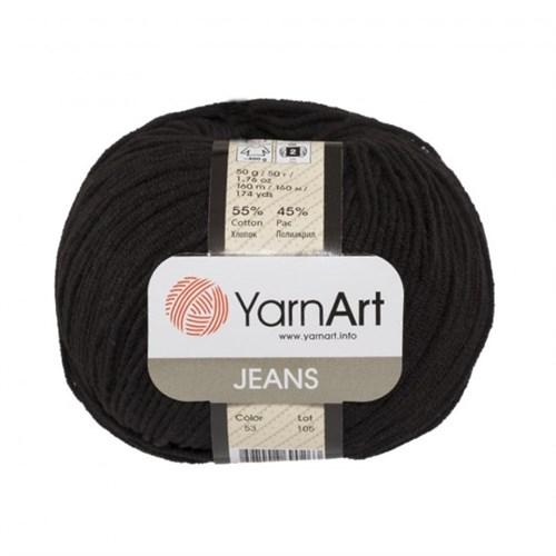Yarnart Jeans Siyah El Örgü İpi - 53