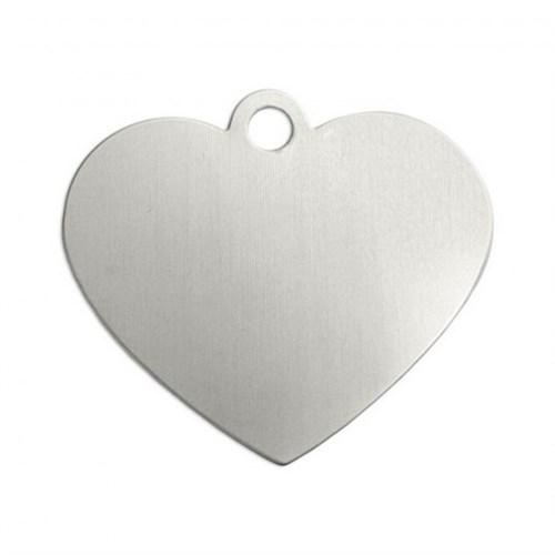 Impressart Kalp Halkalı Gümüş Damga Levha - Iad123103