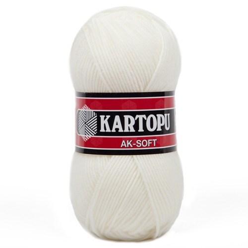 Kartopu Ak-Soft Beyaz El Örgü İpi - K013