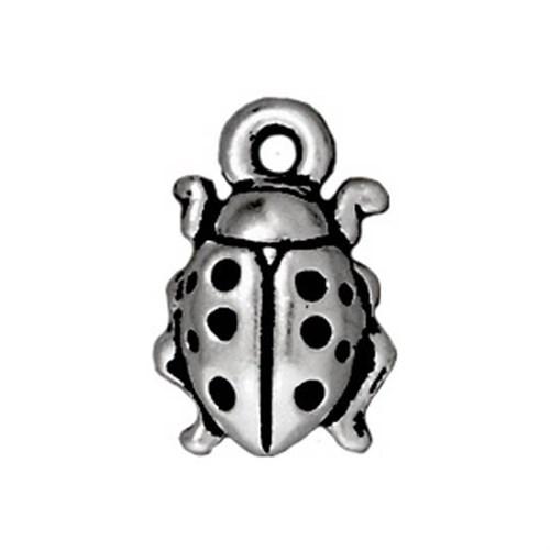 Tierra Cast 1 Adet 12.75X8.5 Mm Gümüş Rengi Uğur Böceği Takı Aksesuarı - 94-2124-12