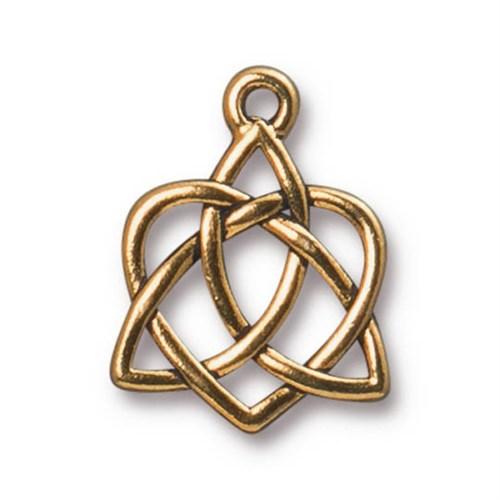 Tierra Cast 1 Adet 20.6X15.7 Mm Altın Rengi Sonsuz Kalp Takı Aksesuarı - 94-2389-26