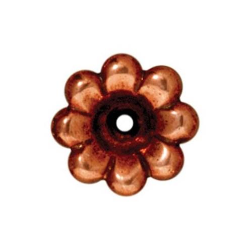 Tierra Cast 1 Adet 5X11.5 Mm Bakır Rengi Çiçek Boncuk Şapkası - 94-5589-18