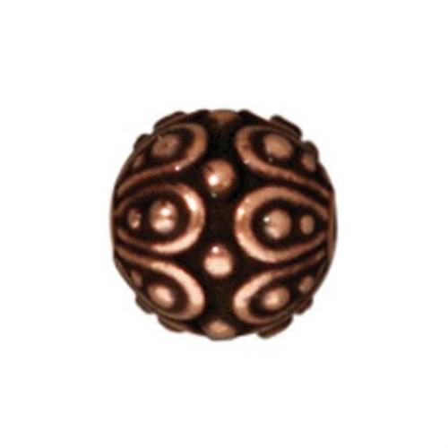 Tierra Cast Metal 1 Adet 7X7.25 Mm Bakır Rengi Oval Boncuk - 94-5626-18