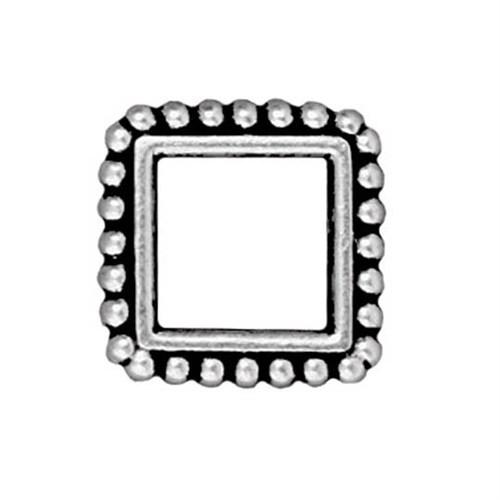Tierra Cast 1 Adet 13.5X16.5 Mm Gümüş Rengi Kare Çerçeve Takı Ara Aksesuarı - 94-5658-12