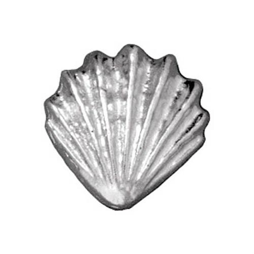 Tierra Cast Metal 1 Adet 13.25X13.5 Mm Gümüş Rengi Deniz Kabuğu Boncuk - 94-5679-61