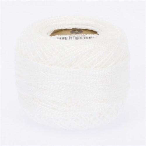Ören Bayan Koton Perle No:8 Beyaz El Nakış İpliği - Beyaz