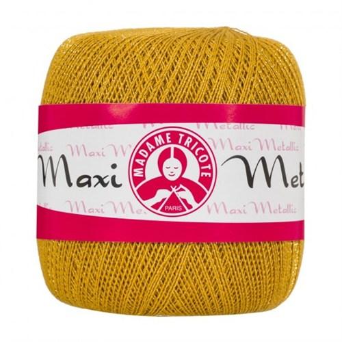 Ören Bayan Maxi Metalic Sarı Simli Dantel İpi - 26351