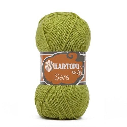 Kartopu Sera Yeşil El Örgü İpi - K442