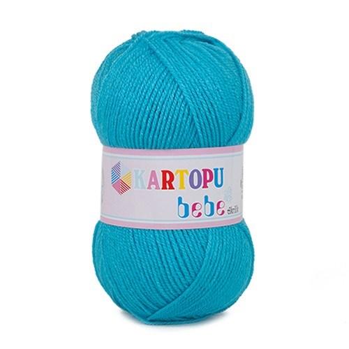 Kartopu Bebe Mavi Bebek Yünü - K515