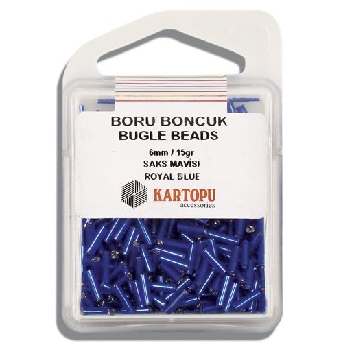 Kartopu 6 Mm Saks Mavi Boru Boncuk - 04.104