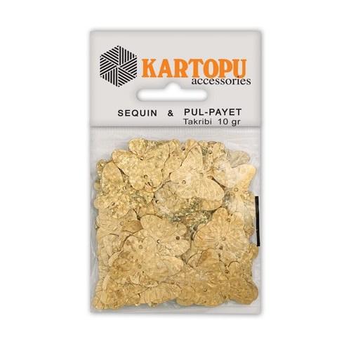 Kartopu Altın Janjan Kelebek Figürlü Figürel Pul Payet - Pp5